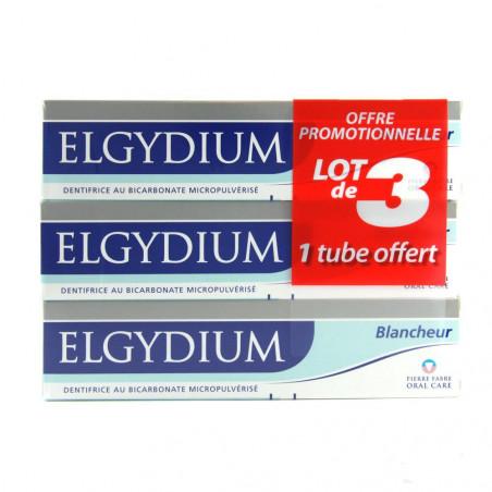 Elgydium Dentifrice Blancheur. Offre Spéciale 3 Tubes de 75ML