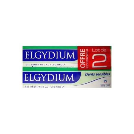 Elgydium Dentifrice Dents sensibles gel Offre Spéciale 2 Tubes de 75ML