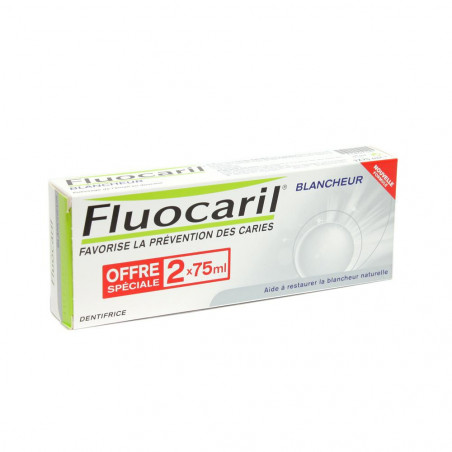 Fluocaril Dentifrice Blancheur. Lot de 2 Tubes de 75ML