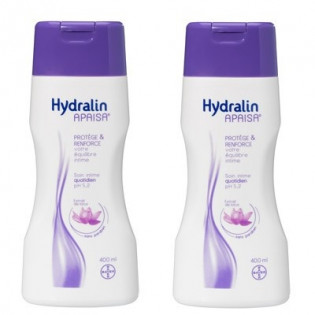 Hydralin Apaisa Soin intime quotidien Solution au Lotus. Flacons 2x400ML