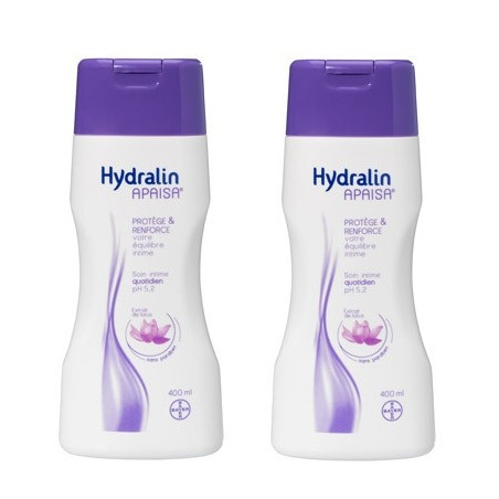 Hydralin Quotidien Soin intime au Lotus. Flacons 2x400ML