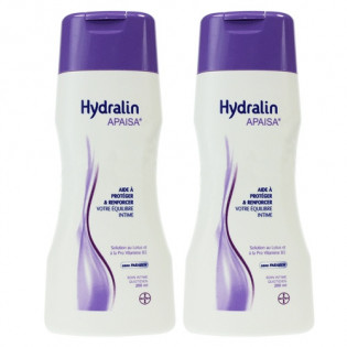Hydralin Apaisa Soin intime quotidien Solution au Lotus. Flacons 2x200ML