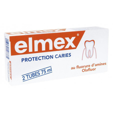 Elmex Dentifrice Protection Caries. Tubes 2x75ML