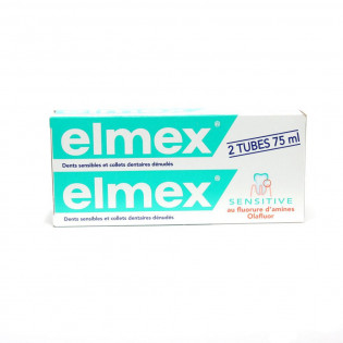 Elmex Dentifrice Sensitive. Tubes 2x75ML