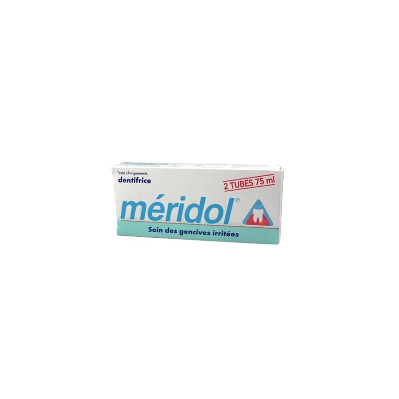 Meridol dentifrice Soin Gencives Irritées. 2 Tubes de 75ML