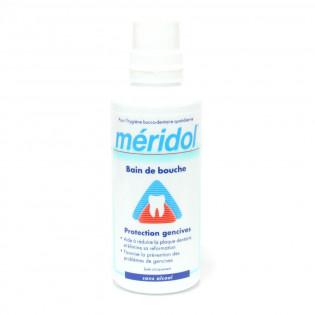 Meridol solution bain bouche sans alcool. Flacon de 400ML