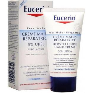 Eucerin Crème Mains Réparatrice 5% Urée. Tube 75ML