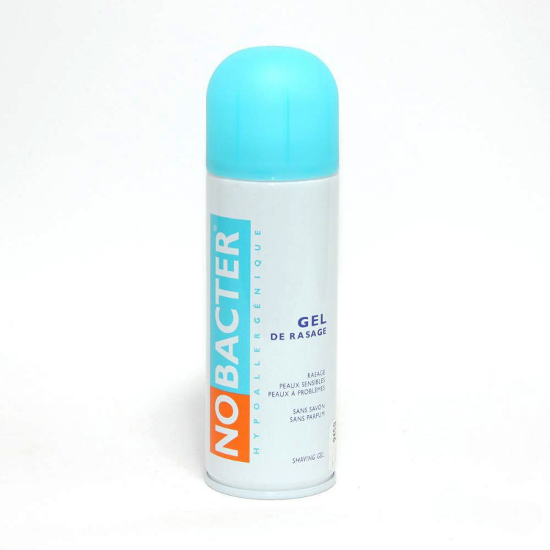 Nobacter Gel de rasage peau sensible. Aérosol de 150ML