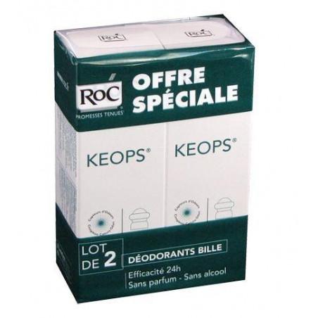 Keops Déodorant sans alcool Bille. Lot de 2 de 30ML