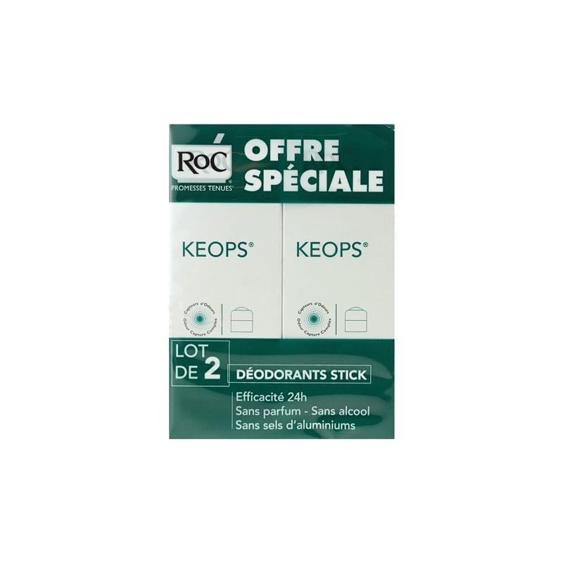 Offre Keops Déodorant sans alcool Stick. Lot de 2 de 40ML