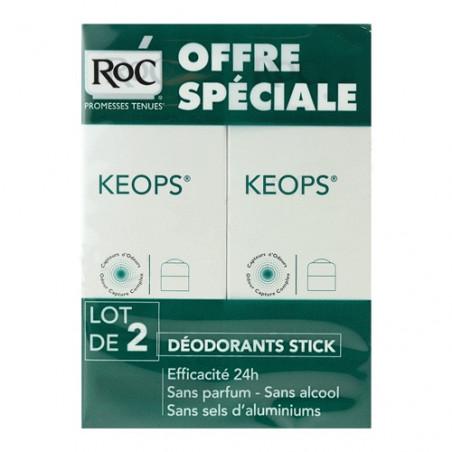 Keops Déodorant sans alcool Stick. Lot de 2 de 40ML