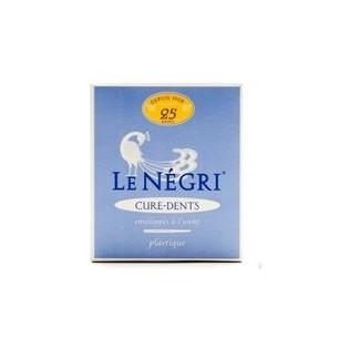 Le Négri Cure-dents en plume naturelle. Boîte 25 pièces