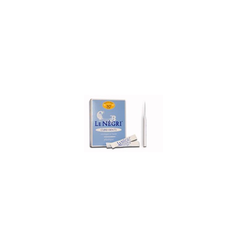 Le Négri Cure-dents en plastique. Boîte 50 pièces