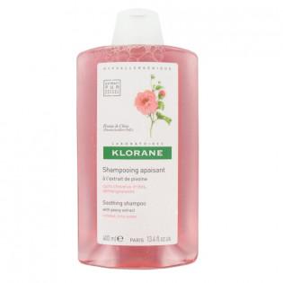 Klorane Shampooing Apaisant à l'Extrait de Pivoine. Flacon de 400ml