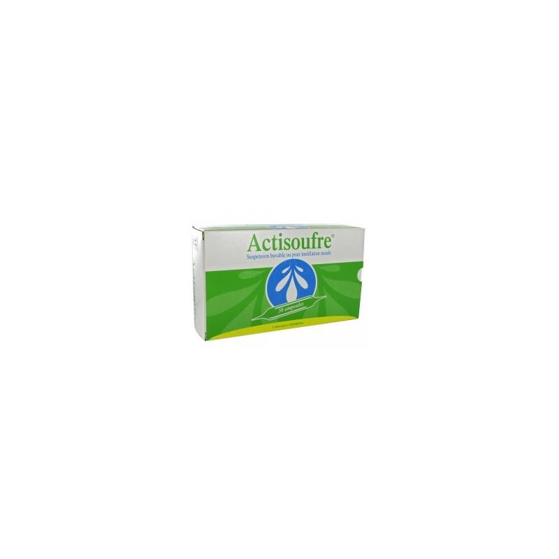 Actisoufre Ampoule de 10ml Buvable/Nasale par 30