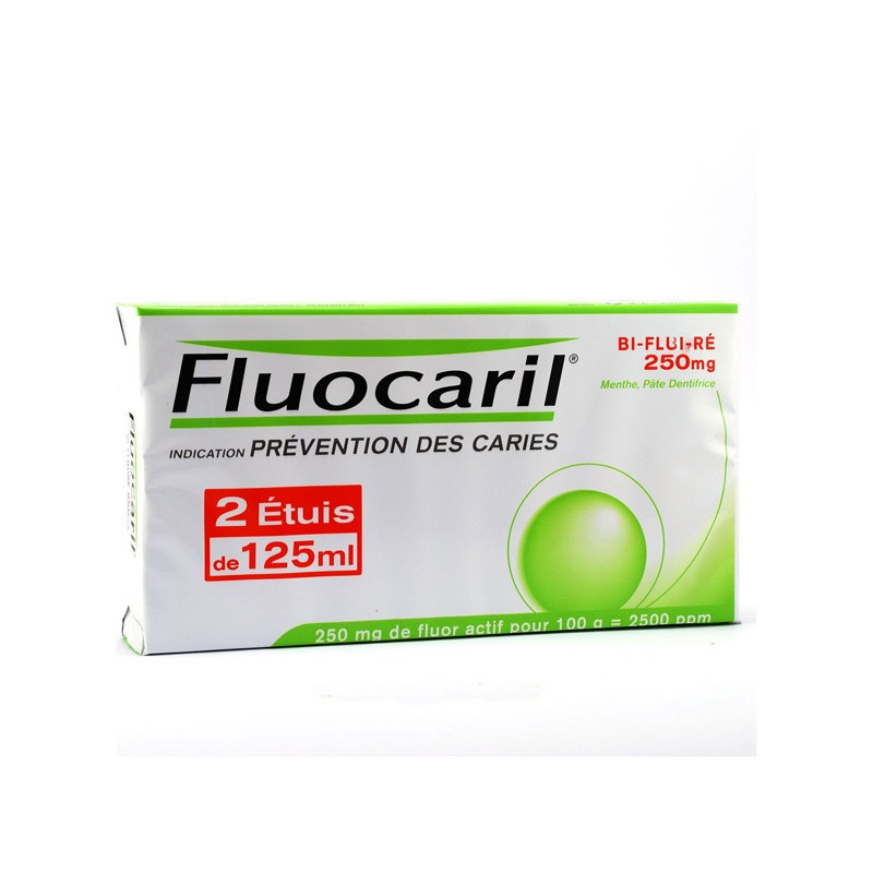 Fluocaril dentifrice menthe 125ml LOT DE 2