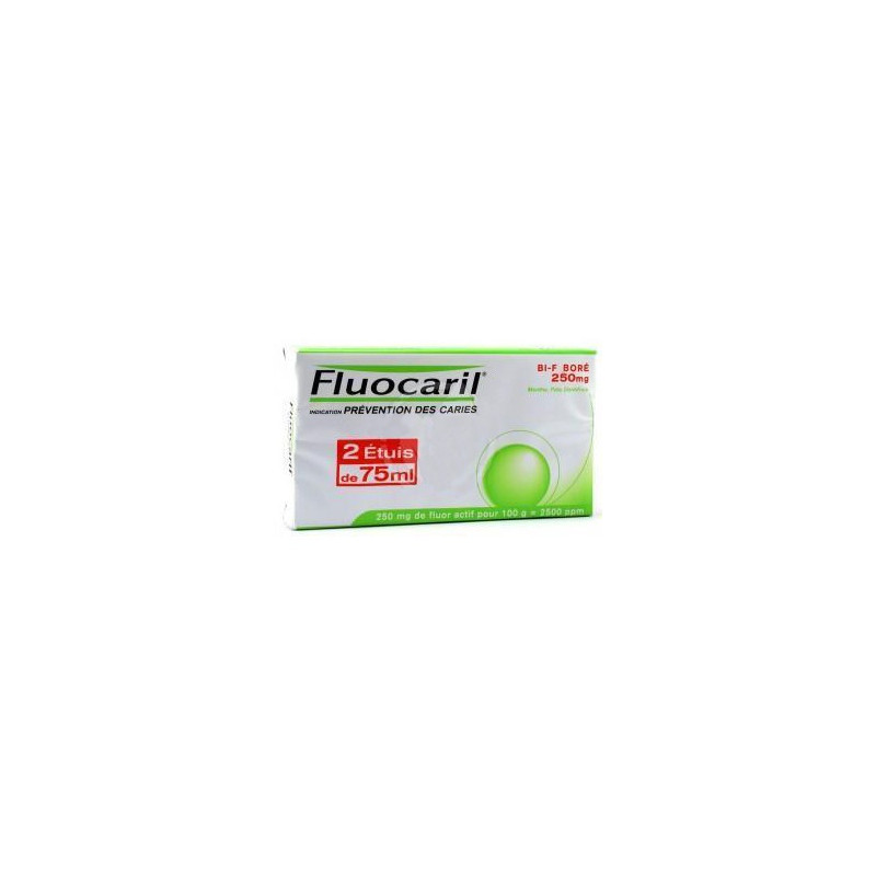 Fluocaril dentifrice menthe 75ml LOT DE 2