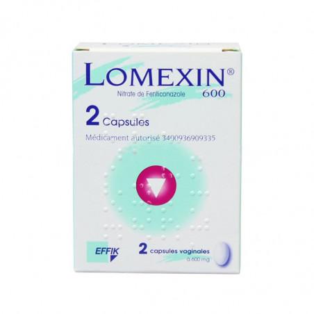 Lomexin capsules vaginales 600mg par 2