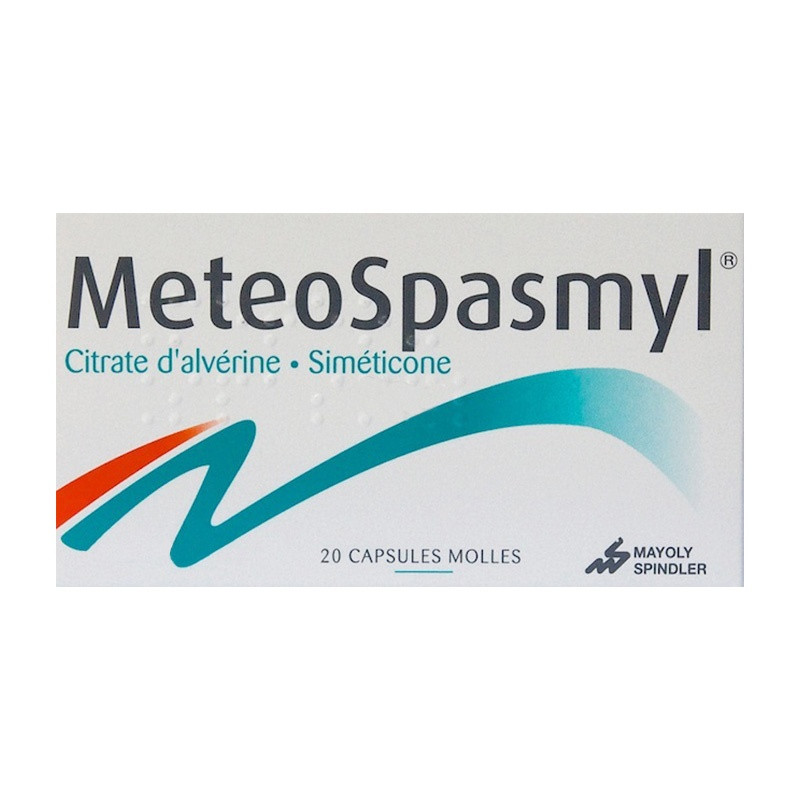 Meteospasmyl boîte de 20 capsules molles