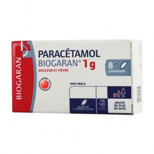 Paracétamol 1 gr BIOGARAN boîte de 8 cps