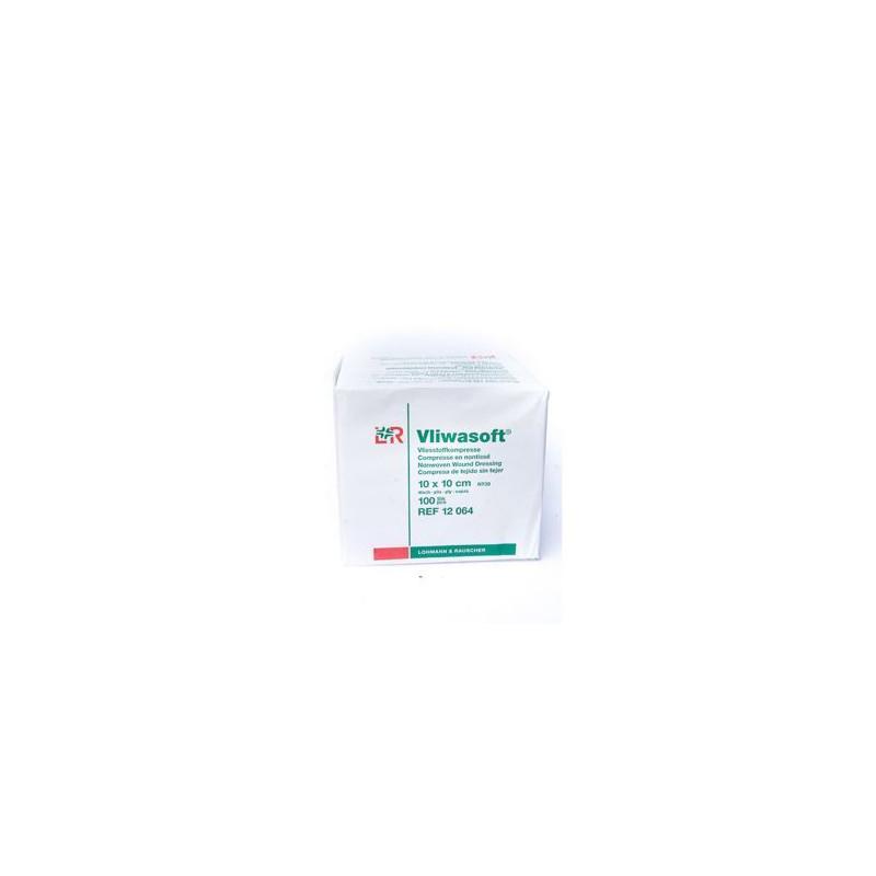 Compresses de gaze stériles LOHMANN 10x10cm boîte de 100