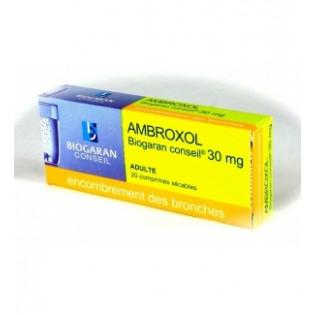 AMBROXOL BIOGARAN CONSEIL 30 mg, 20 comprimés sécables