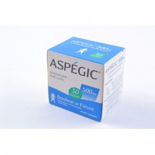 Aspegic 500mg 30 sachets poudre
