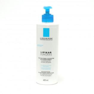 La Roche Posay LIPIKAR surgras Douche Crème Concentrée anti-dessèchement peau sèche. Flacon pompe de 400ML