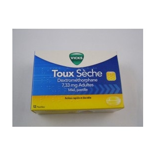 Vicks Toux sèche pastille au miel boîte de 12