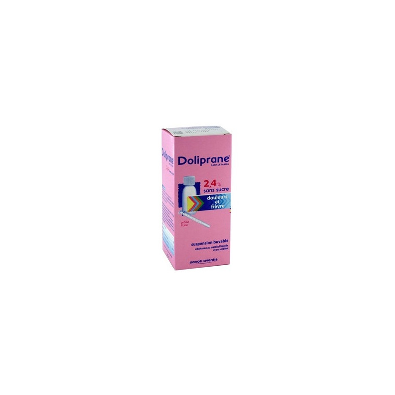 Doliprane 2,4% sans sucre sol buvable flacon 100ml