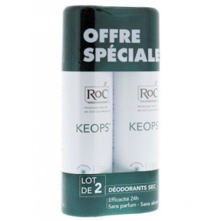 Keops Déodorant sans alcool spray sec lot de 2 de 150ml