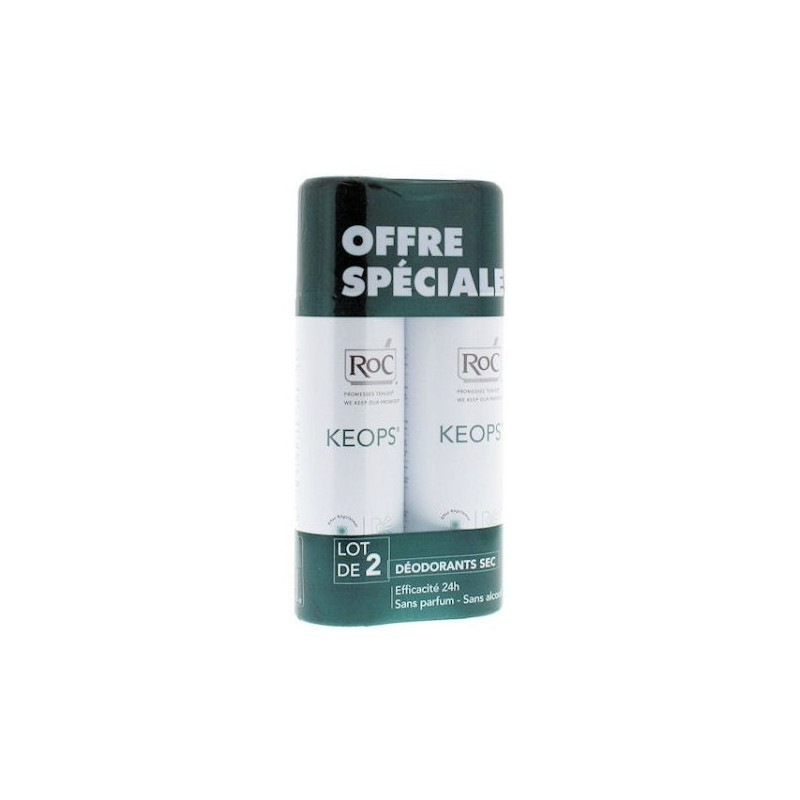 Keops Déodorant sans alcool spray sec lot de 2 de 150ml