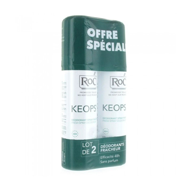 Keops Déodorant sans alcool spray fraîcheur lot de 2 de 100ml
