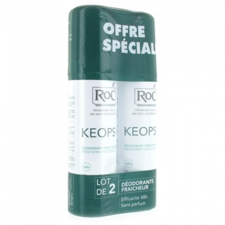 Keops Déodorant spray fraîcheur lot de 2 de 100ml