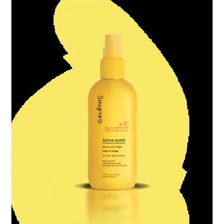 GALENIC SOINS SOLEIL Ultra léger SPF30 corps & visage Peaux claires à mates. Spray 125 ml