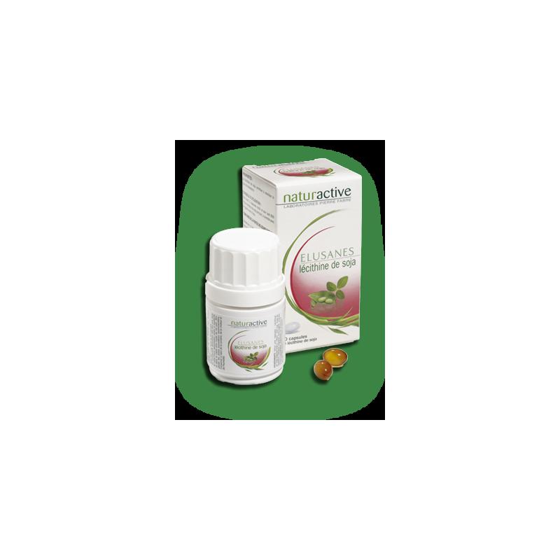 Lécithine de soja Elusanes 200mg 60 capsules