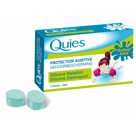 Quies Protection auditive enfant silicone natation 3 paires