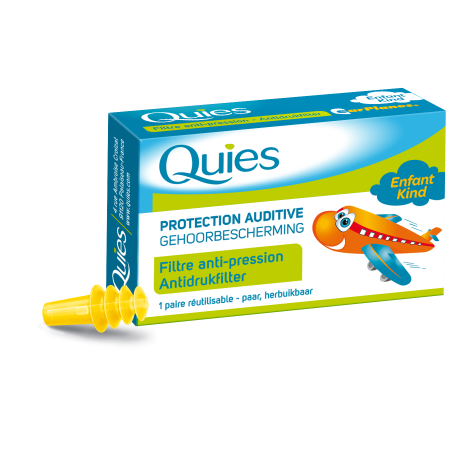 Quies Protection auditive enfant avion 1 paire réutilisable