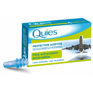 Quies Protection auditive avion 1 paire réutilisable