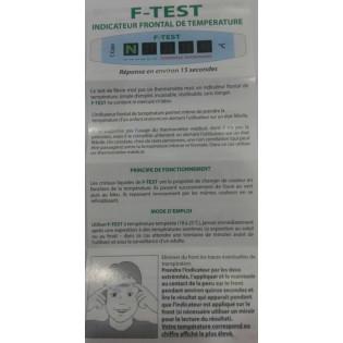F-Test indicateur frontal de température à l'unité