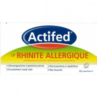 Actifedduo LP Rhinite Allergique - boite 10 comprimés