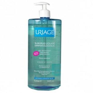 URIAGE Surgras Liquide Dermatologique - Gel Nettoyant Moussant sans savon Visage & Corps flacon 750ml