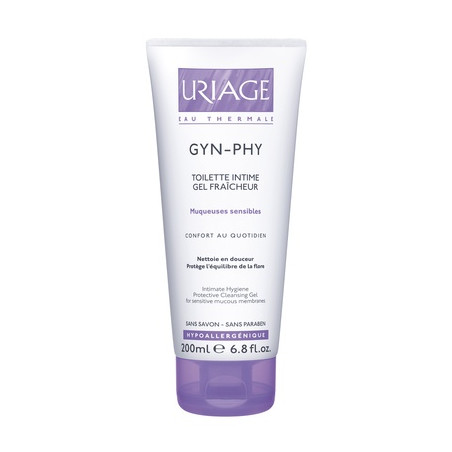 URIAGE GYN-PHY Toilette Intime, Gel Fraîcheur, Muqueuses Sensibles, tube 200ml