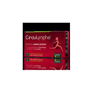Santé Verte CIRCULYMPHE jambes légères. 30 comprimés