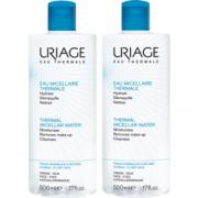 Uriage eau micellaire thermale peaux normales à sèches 2x500ml