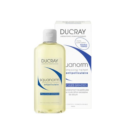 Ducray Squanorm Shampooing Pellicules Grasses 200ml Nouvelle formule
