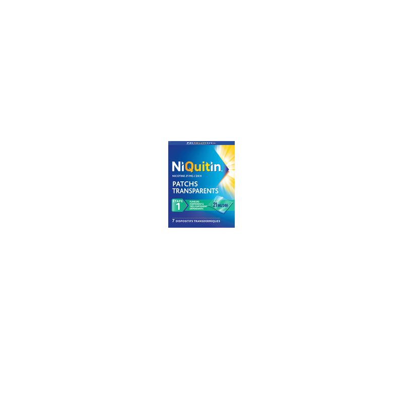 NIQUITIN PATCHS TRANSPARENTS 21MG/24H BTE DE 28