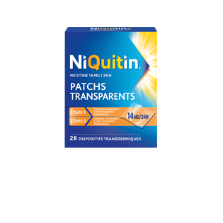 NIQUITIN PATCHS TRANSPARENTS 14MG/24H BTE DE 28