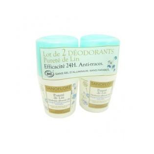 Sanoflore Déodorant 24h roll on 50 ML Lot de 2