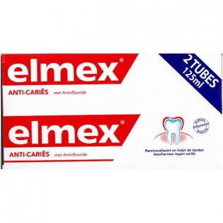 Elmex Dentifrice Protection Caries. Tubes 2x125ML